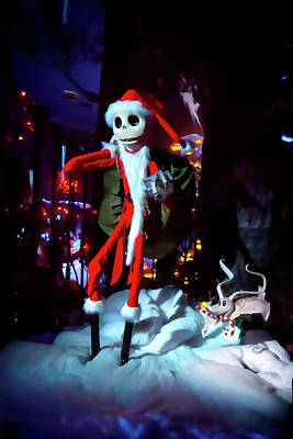 Haunted Mansion Photograph - A Haunted Christmas by Mark Andrew Thomas