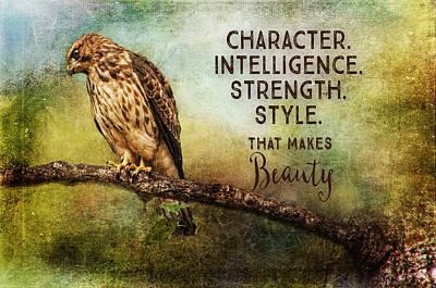 Painting - A Hawks Strength by Christina VanGinkel