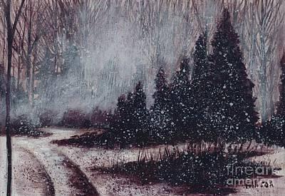 A Hazy Shade Of Winter  Art Print