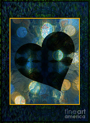 Montage Mixed Media - A Heart Afloat  by Wbk