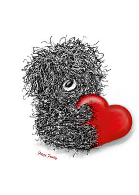 Painting - Frizzy Freddy- A Heart Just For You by Sannel Larson