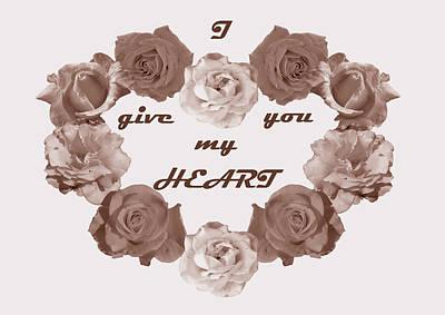 A Heart Of Flowers Art Print
