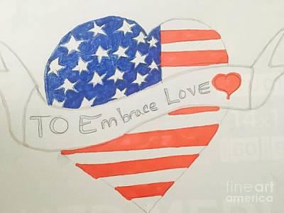 Drawing - A Heart Of Love  by Charita Padilla