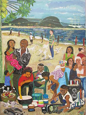 A Heavenly Day - Lumley Beach - Sierra Leone Original by Mudiama Kammoh