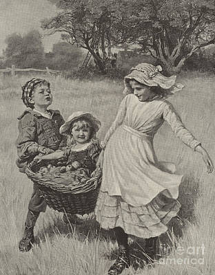 Joyful Drawing - A Heavy Load by Frederick Morgan