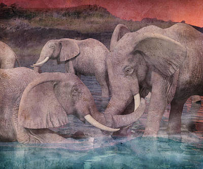 Trunk Digital Art - A Helping Hand by Betsy Knapp