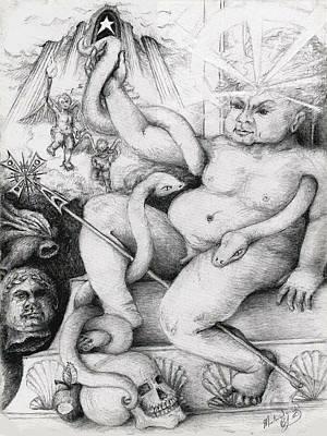 Drawings Royalty Free Images - A Herculean Struggle Royalty-Free Image by Melinda Dare Benfield