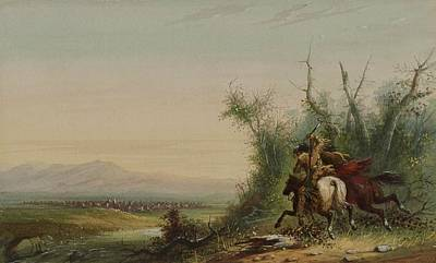 Herd Of Horses Painting -  A Herd Of Antelopes by Alfred Jacob Miller