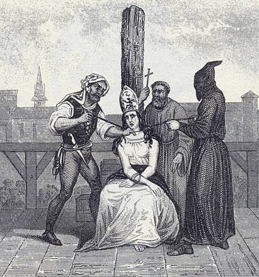 A Heretic Is Garroted During The Art Print by Vintage Design Pics