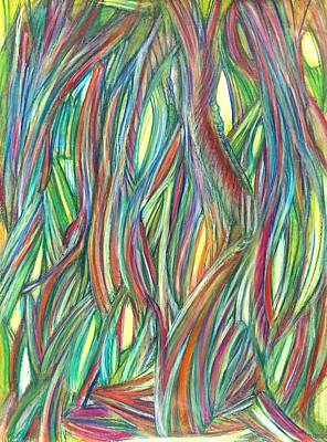 Abstract Movement Drawing - 'a Heroic Act' by Kelly K H B
