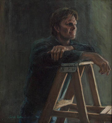 Contemplative Painting - A. Hervold by Sarah Yuster