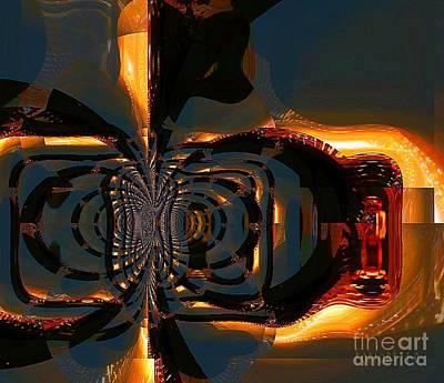 Mixed Media - A Hidden Door by Fania Simon