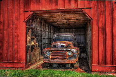 Photograph - A Hiding Place 1949 Ford Pickup Truck by Reid Callaway