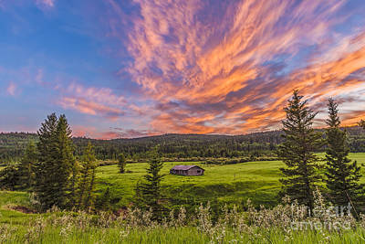 A High Dynamic Range Photo Of A Sunset Art Print
