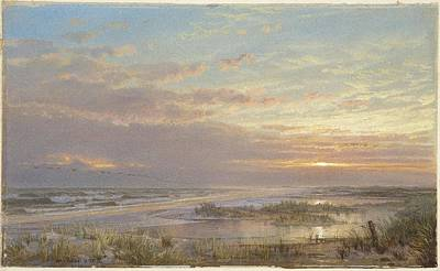 1833 Painting - A High Tide At Atlantic City by William Trost Richards