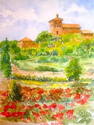 San Gimignano Painting - A Hillside Near San Gimignano by Patsy Walton
