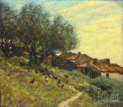A Hillside Village In Provence Art Print