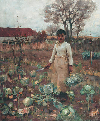 Scottish Painting - A Hind's Daughter by James Guthrie