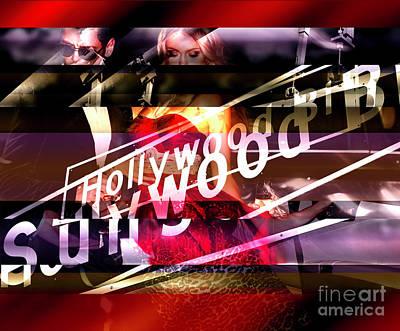 Digital Art - A Hollywood Night by John Rizzuto