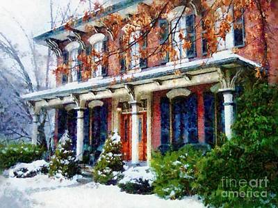 Photograph - A Home For The Holidays - Honesdale Pa by Janine Riley