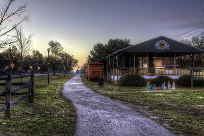 Photograph - A Hometown Christmas by Harry B Brown