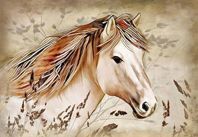 Digital Art - A Horse Of Course by Nina Bradica