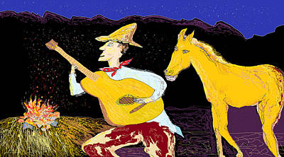 Digital Art - A Horse Sings by Jim Taylor