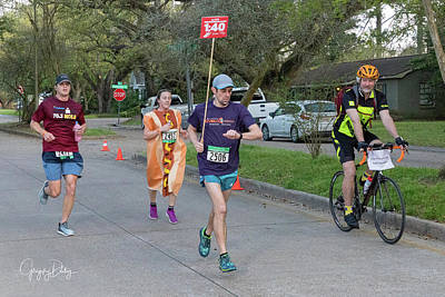 Photograph - A Hot Dog Is Chasing Me by Gregory Daley  MPSA