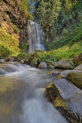 Stream Photograph - A Hot Sunny Day At Upper Bridal Veil Falls by David Gn