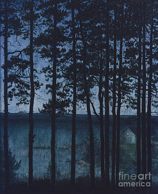 Harald Painting - A House By The Coast by Harald Sohlberg