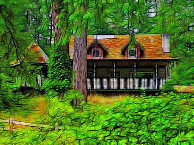 A House Deserted Art Print by Tim Coleman