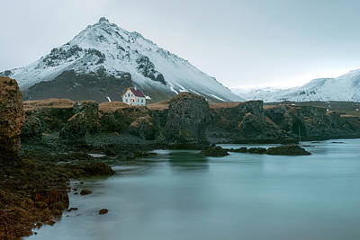 Photograph - A House Near Snaefellsjokull Mountain, Iceland by Dubi Roman