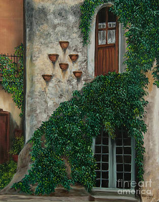 Village In Europe Painting - A House Of Vines by Charlotte Blanchard