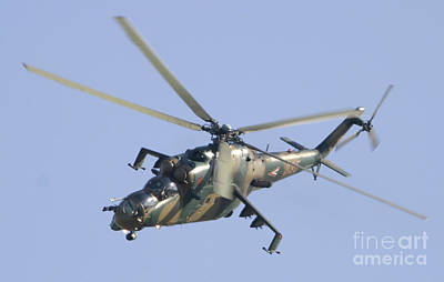 A Hungarian Mi-24 Hind In Flight Print by Timm Ziegenthaler