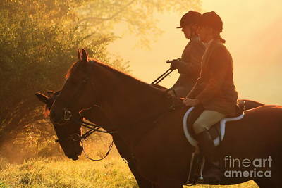 Photograph - A Hunt At Sunrise by Angela Rath