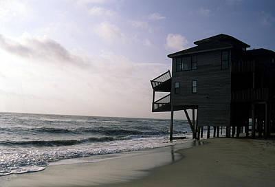 A Hurricane Damaged House On The Coast Art Print