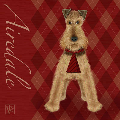 A Is  For Airedale Art Print