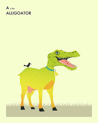 A Is For Aligoator Art Print
