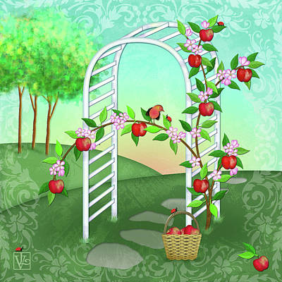 A Is For Arbor And Apples Art Print