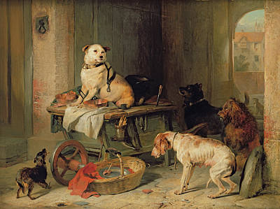 Cats And Dogs Painting - A Jack In Office by Sir Edwin Landseer
