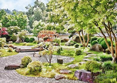 Photograph - A Japanese Zen Garden by Gabriele Pomykaj