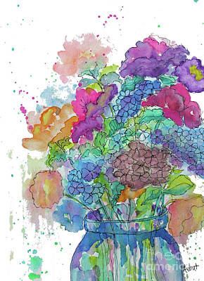 Painting - A Jar Full Of Happy by Rosemary Aubut