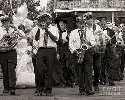 A Jazz Wedding In New Orleans Art Print by Kathleen K Parker