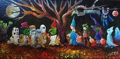 A Jolly Halloween Art Print