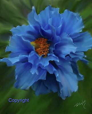 Painting - A Joy In Blue by Ralph Taylor
