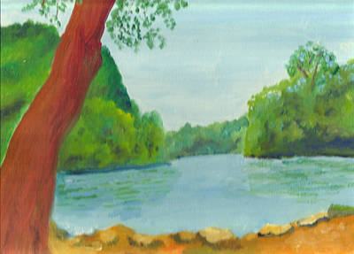 Painting - A June Day At Hidden Falls by Paul Thompson