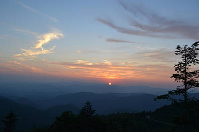 Photograph - A June Sunset Over The Great Smoky Mountains by rd Erickson