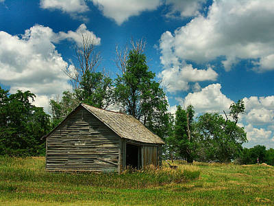 Shed Photograph - A Kansas Day by Lynne and Don Wright