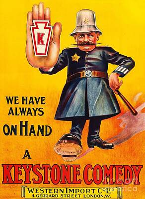Painting - A Keystone Comedy by Peter Ogden