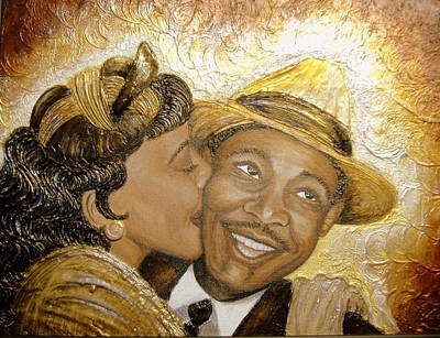 Keenya Woods Painting - A Kiss For A King by Keenya  Woods